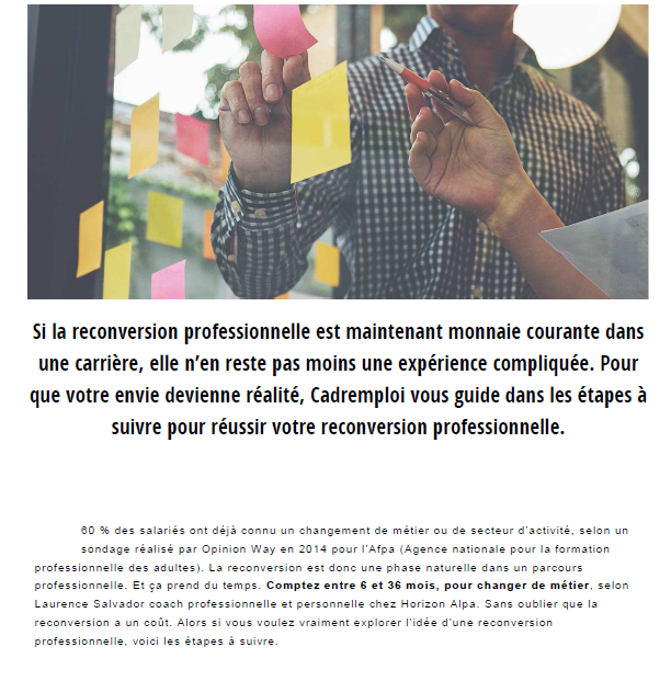 reconversion professionnelle